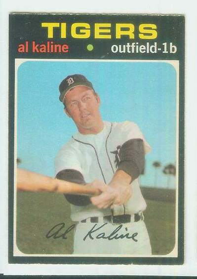 1971 O-Pee-Chee/OPC #180 Al Kaline [#b] (Tigers) Baseball cards value