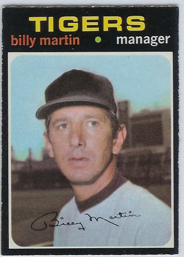 1971 O-Pee-Chee/OPC #208 Billy Martin MGR [#a] (Tigers) Baseball cards value