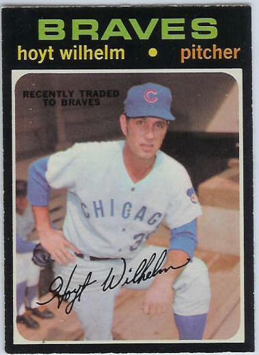 1971 O-Pee-Chee/OPC #248 Hoyt Wilhelm [#e] (Braves) Baseball cards value
