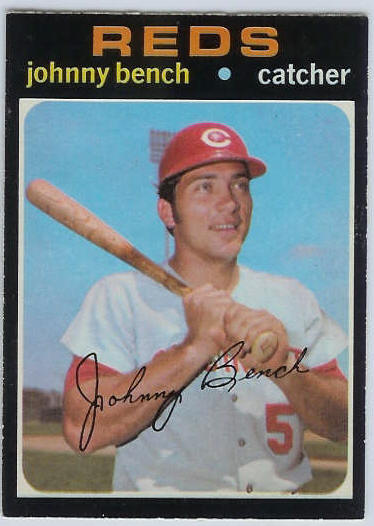 1971 O-Pee-Chee/OPC #250 Johnny Bench [#b] (Reds) Baseball cards value
