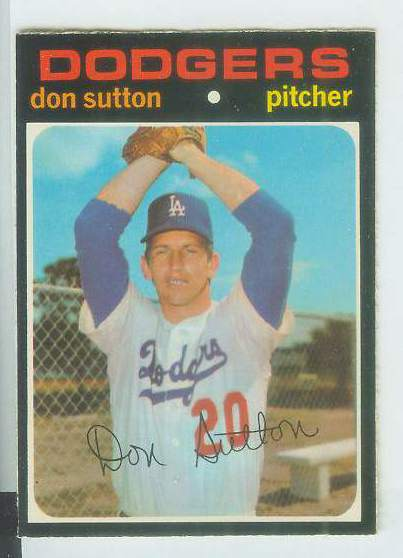 1971 O-Pee-Chee/OPC #361 Don Sutton [#a] (Dodgers) Baseball cards value