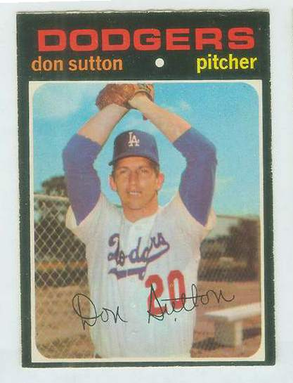 1971 O-Pee-Chee/OPC #361 Don Sutton [#b] (Dodgers) Baseball cards value