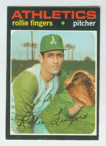 1971 O-Pee-Chee/OPC #384 Rollie Fingers [#c] (A's) Baseball cards value