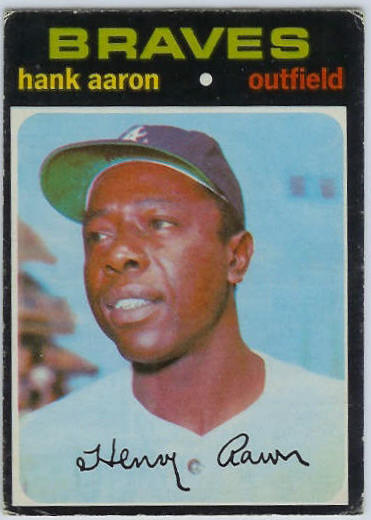 1971 O-Pee-Chee/OPC #400 Hank Aaron [#b] (Braves) Baseball cards value
