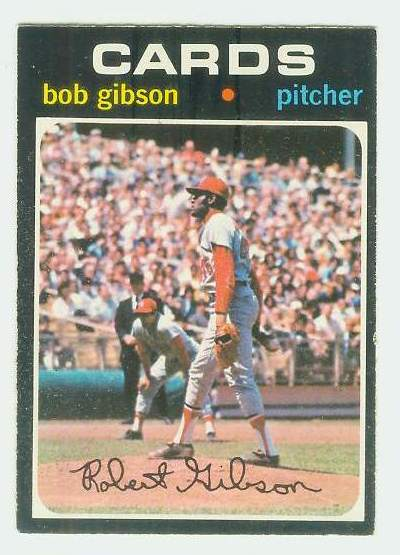 1971 O-Pee-Chee/OPC #450 Bob Gibson [#b] (Cardinals) Baseball cards value