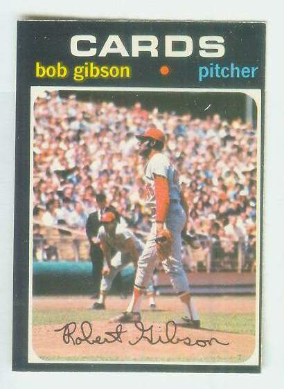 1971 O-Pee-Chee/OPC #450 Bob Gibson [#c] (Cardinals) Baseball cards value