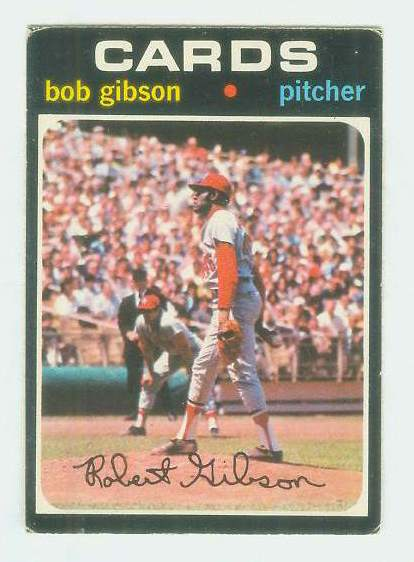 1971 O-Pee-Chee/OPC #450 Bob Gibson [#d] (Cardinals) Baseball cards value
