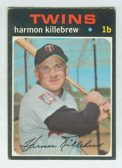 1971 O-Pee-Chee/OPC #550 Harmon Killebrew SCARCE SEMI-HI# (Twins) Baseball cards value