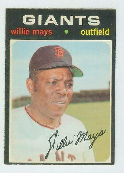 1971 O-Pee-Chee/OPC #600 Willie Mays [#a] SCARCE SEMI-HI# (Giants) Baseball cards value