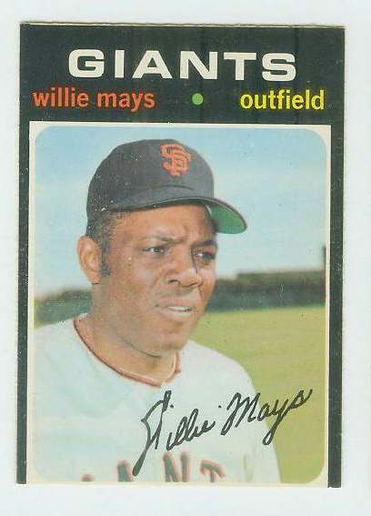 1971 O-Pee-Chee/OPC #600 Willie Mays [#b] (Giants) Baseball cards value