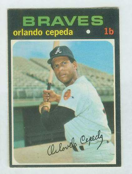 1971 O-Pee-Chee/OPC #605 Orlando Cepeda [#c] (Braves) Baseball cards value