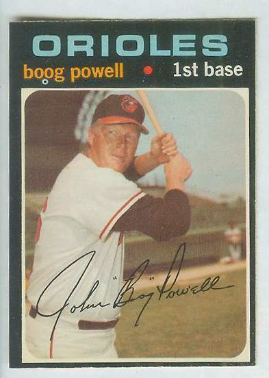1971 O-Pee-Chee/OPC #700 Boog Powell [#a] SHORT PRINT SCARCE HIGH# (Orioles Baseball cards value