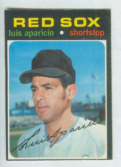 1971 O-Pee-Chee/OPC #740 Luis Aparicio SHORT PRINT SCARCE HIGH #.(White Sox Baseball cards value
