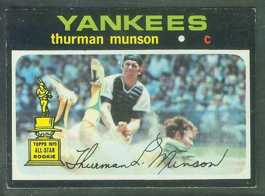 1971 Topps #..5 Thurman Munson [#a] (Yankees) Baseball cards value
