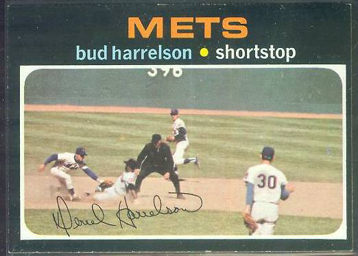 1971 Topps #355 Bud Harrelson w/Nolan Ryan [#b] (Mets) Baseball cards value