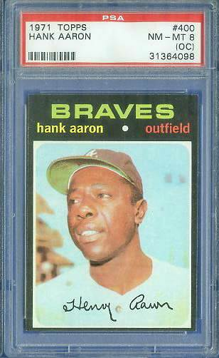 1971 Topps #400 Hank Aaron [PSA] (Braves) Baseball cards value