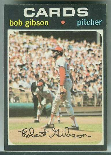 1971 Topps #450 Bob Gibson [#d] (Cardinals) Baseball cards value
