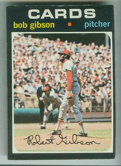 1971 Topps #450 Bob Gibson [#f] (Cardinals) Baseball cards value