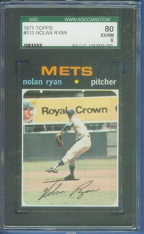 1971 Topps #513 Nolan Ryan [SGC] (Mets) Baseball cards value