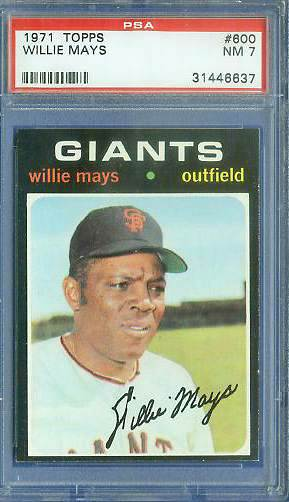 1971 Topps #600 Willie Mays [#psa] (Giants) Baseball cards value