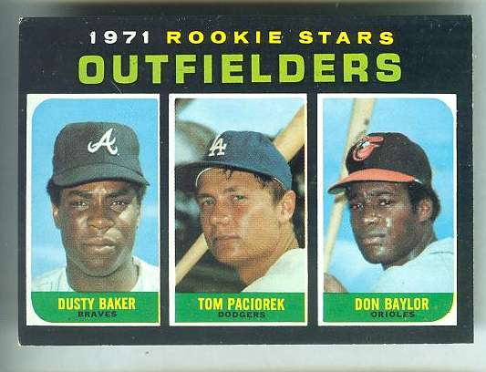 1971 Topps #709 Don Baylor/Dusty Baker ROOKIE SHORT PRINT HIGH# [#a] Baseball cards value