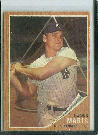 1962 Topps #..1 Roger Maris [#a] (Yankees) Baseball cards value