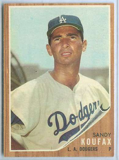 1962 Topps #  5 Sandy Koufax (Dodgers) Baseball cards value