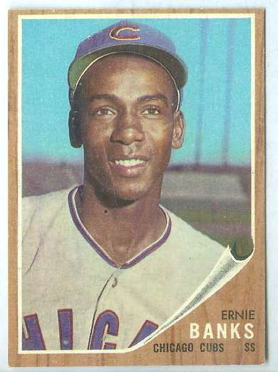 1962 Topps #.25 Ernie Banks [#b] (Cubs) Baseball cards value