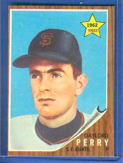 1962 Topps #199 Gaylord Perry ROOKIE [#a] (Giants) Baseball cards value