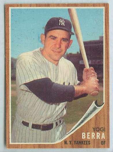 1962 Topps #360 Yogi Berra [#a] (Yankees) Baseball cards value