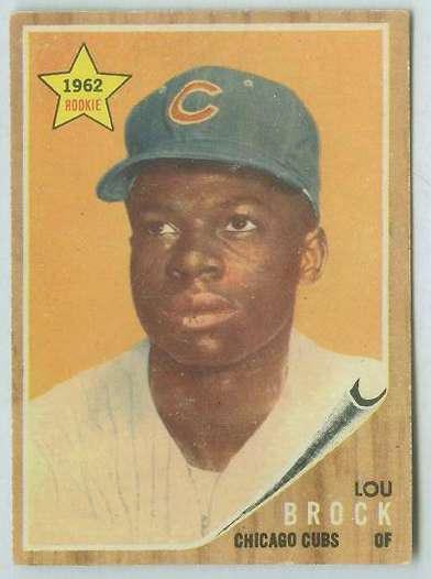 1962 Topps #387 Lou Brock ROOKIE [#a] (Cubs) Baseball cards value