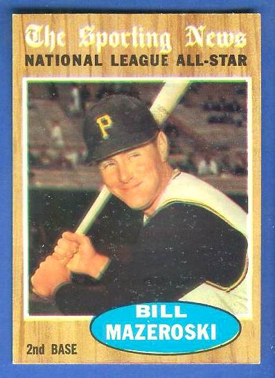 1962 Topps #391 Bill Mazeroski All-Star [#a] (Pirates) Baseball cards value