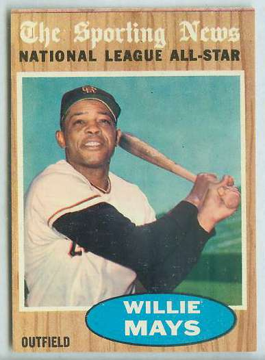 1962 Topps #395 Willie Mays All-Star [#a] (Giants) Baseball cards value