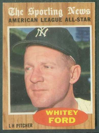 1962 Topps #475 Whitey Ford All-Star [#a] (Yankees) Baseball cards value