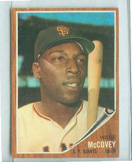 1962 Topps #544 Willie McCovey SHORT PRINT [#a] HIGH #.(Giants) Baseball cards value