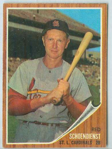 1962 Topps #575 Red Schoendienst SHORT PRINT HIGH #.[#a] (Cardinals) Baseball cards value