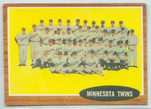 1962 Topps #584 Twins TEAM card SHORT PRINT HIGH #.[#a] Baseball cards value