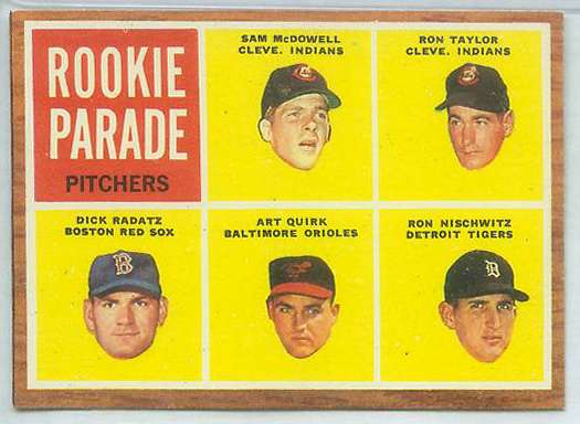 1962 Topps #591 Sam McDowell & Dick Radatz ROOKIES HIGH# (Indians/Reds) Baseball cards value
