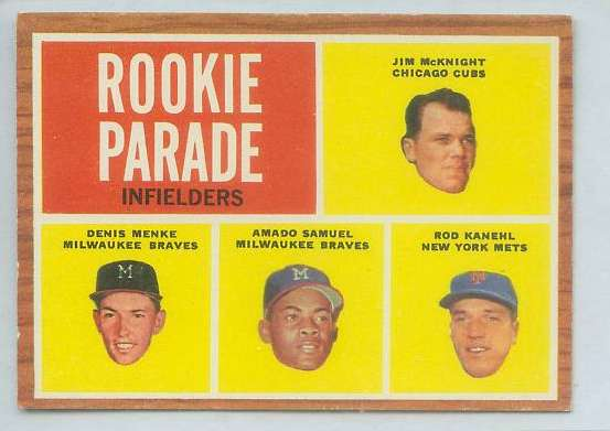 1962 Topps #597 Denis Menke SHORT PRINT ROOKIE HIGH #.(Braves) Baseball cards value