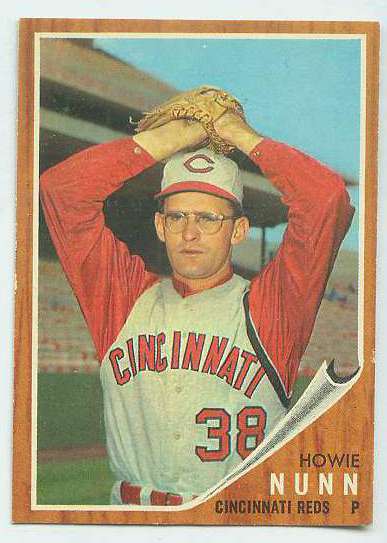 1962 Topps #524 Howie Nunn SHORT PRINT [#a] HIGH #.(Reds) Baseball cards value