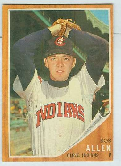 1962 Topps #543 Bob Allen SHORT PRINT [#b] HIGH #.(Indians) Baseball cards value