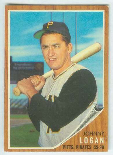 1962 Topps #573 Johnny Logan [#a] HIGH #.(Pirates) Baseball cards value