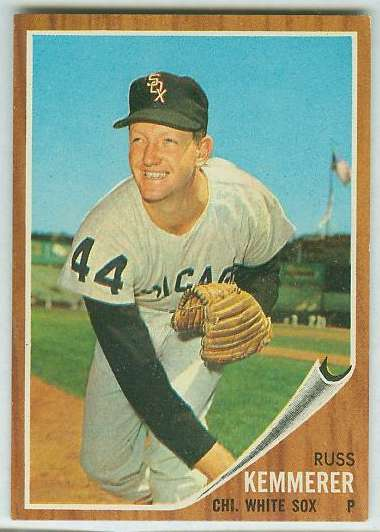 1962 Topps #576 Russ Kemmerer SHORT PRINT [#a] HIGH #.(White Sox) Baseball cards value