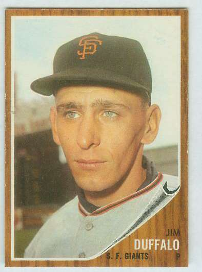 1962 Topps #578 Jim Duffalo [#a] HIGH #.(Giants) Baseball cards value