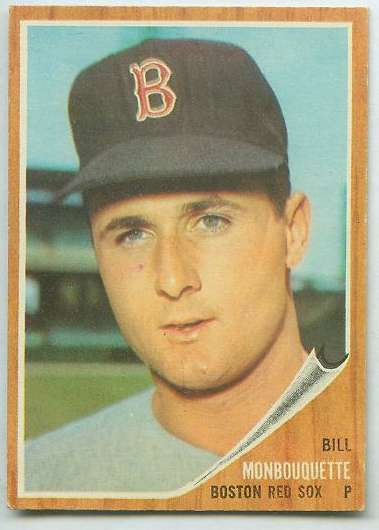 1962 Topps #580 Bill Monbouquette HIGH #.(Red Sox) Baseball cards value