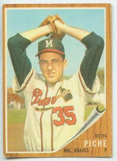 1962 Topps #582 Ron Piche [#b] HIGH #.(Braves) Baseball cards value