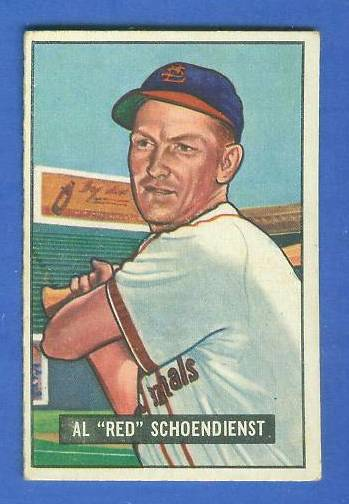 1951 Bowman #.10 Red Schoendienst (Cardinals) Baseball cards value