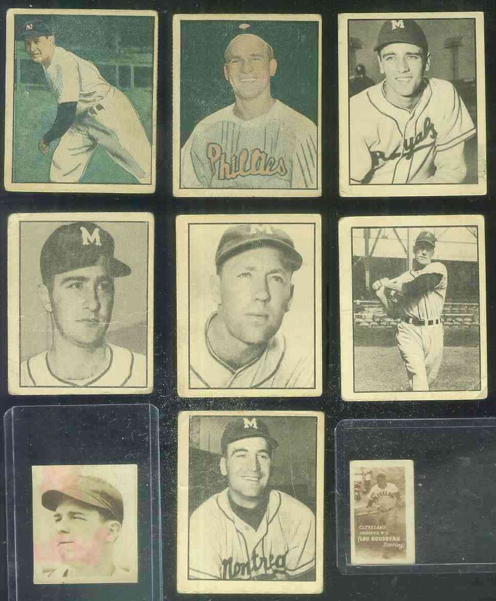 1952 Parkhurst - Lot (4) (#63,65,74,79)(Montreal Royals(3)/Ottawa Athletics Baseball cards value