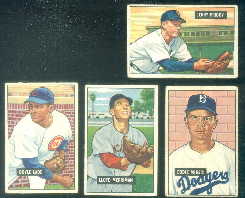 1951 Bowman #.71 Jerry Priddy (Tigers) Baseball cards value