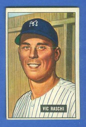 1951 Bowman #.25 Vic Raschi (Yankees) Baseball cards value